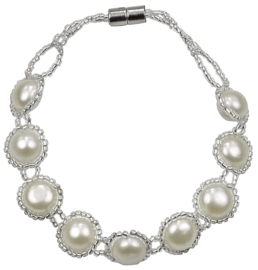 Zoetwater parel armband Pearl O