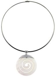 Parelmoeren ketting Spiral White Shell