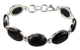 Edelstenen armband Black Agate Oval