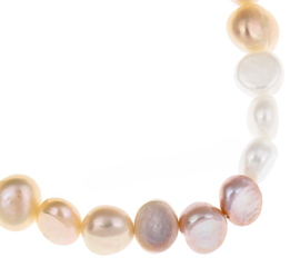 Zoetwater parel armband Pearl Trio Soft Colors