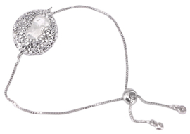 Zoetwater parel armband Bright Biwa Silver