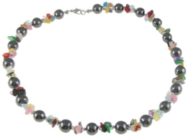 Edelstenen ketting Hematite Colorfull Gemstone