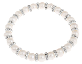 Zoetwater parel armband Bling Pearl
