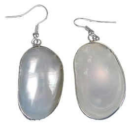 Schelpen oorbellen Mother of Pearl