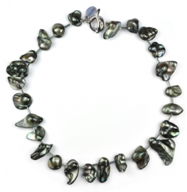 Zoetwater parelketting Pearl Blister Grey