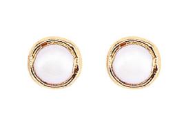 Zoetwater parel oorbellen One Gold Stud Pearl