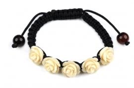 Edelstenen armband White Rose