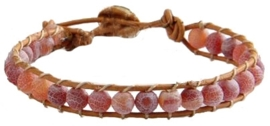 Edelstenen armband Wrap Red Agate Effloresce