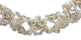Zoetwater parel armband Pearl Crystal Clear