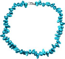 Zoetwater parelketting Pearl Blister Aqua Blue