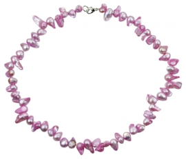 Zoetwater parelketting Pink Blister