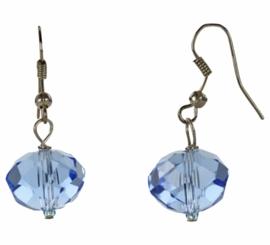 Kristallen oorbel Blue Crystel