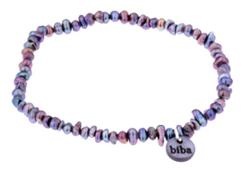 Zoetwater parel armband Biba Peacock Nugget Pearl