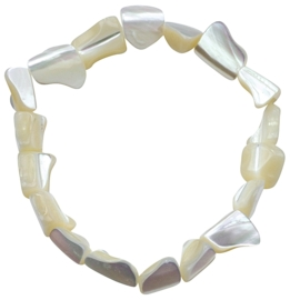 Parelmoeren armband White Shell Small