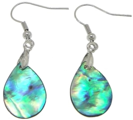 Parelmoeren oorbellen Abalone Light Teardrop