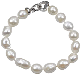 Zoetwater parel armband Big Round Pearl