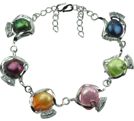 Zoetwater parel armband Evita Color