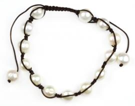 Zoetwater parel armband Sambala White Pearl