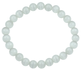 Edelstenen armband Cat's Eye White