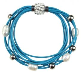 Zoetwater parel armband Bling Pearl Aqua