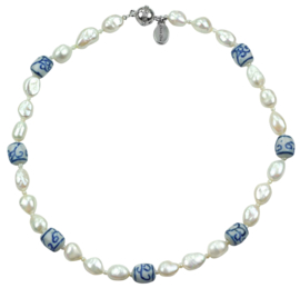 Zoetwater parelketting Hollands Glorie Spiral White