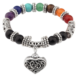 Edelstenen armband Mix Gemstone Heart