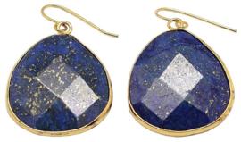 Edelstenen oorbellen Lapis Lazuli Gold