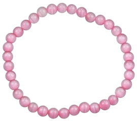 Edelstenen armband Cat's Eye Pink