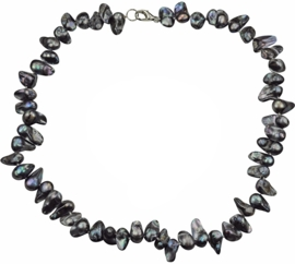 Zoetwater parelketting Pearl Blister Black