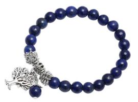 Edelstenen armband Lapis Lazuli Silver Tree of Life