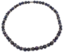 Zoetwater parelketting Bling Pearl Black