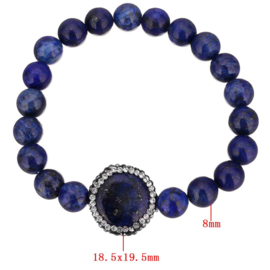 Edelstenen armband Bright Lapis Lazuli
