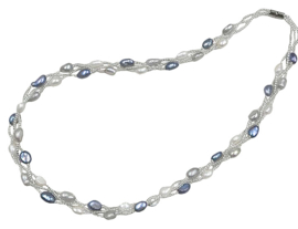 Zoetwater parelketting Twine Pearl Grey