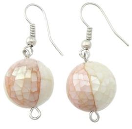 Parelmoeren oorbellen Ball Mosaic