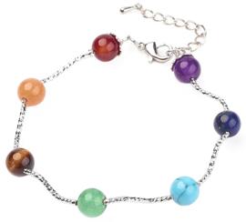 Edelstenen armband Mix Gemstones Balls
