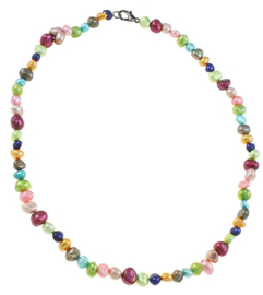 Zoetwater parelketting Decorative Pink