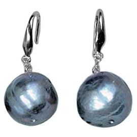 Zoetwater parel oorbellen Bling Kasumi Blue Pearl