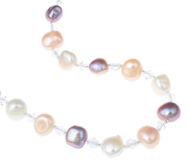 Zoetwater parelketting Adjustable Pearl Soft Colors