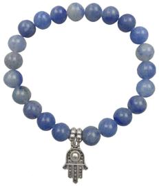 Edelstenen armband Blue Aventurine Hamsa