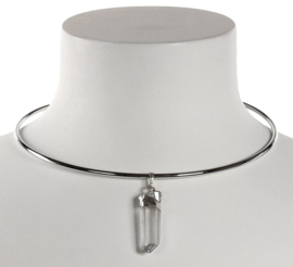 Kristallen ketting Icicle Spang Silver