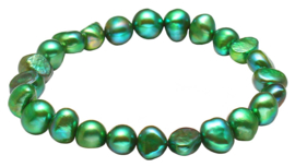 Zoetwater parel armband Green Pearl