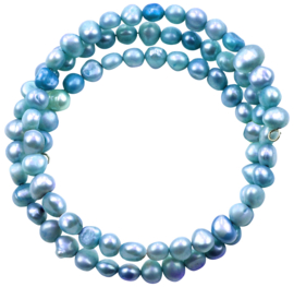 Zoetwater parel wikkelarmband Zen Aqua