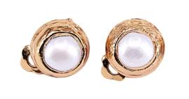 Zoetwater parel clips oorbellen One Gold Clip Pearl