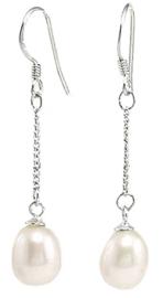 Zoetwater parel oorbellen Silver Dangling Pearl
