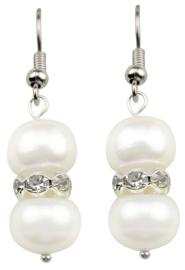 Zoetwater parel oorbellen Bling Pearl