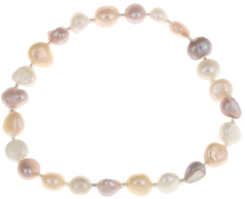 Zoetwater parel armband Seed Bead Pearl Soft Colors
