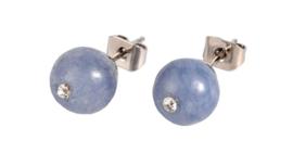 Edelstenen oorbellen Bling Aquamarine