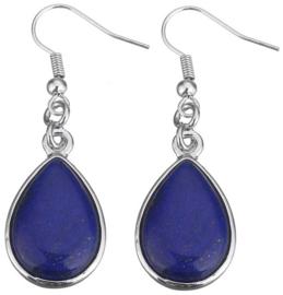 Edelstenen oorbellen Lapis Lazuli Teardrop
