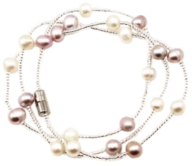 Zoetwater parel armband Pearl Wrap