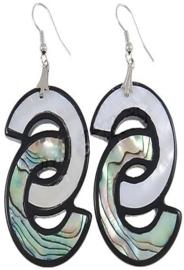 Parelmoeren oorbellen Abalone Double C